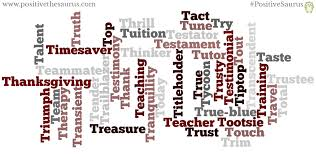 positive nouns that start with t positive words dictionary