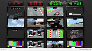 broadcasting formula 1 television studio head room stock animation