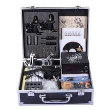 tattoo kit without machine shark professional tattoo kit 4 machines gun carry case brandline