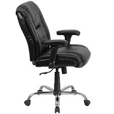 black leather desk chair amazon com flash furniture hercules series big u0026 tall 400 lb