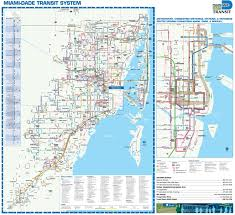 Map Of South Beach Miami by Miami Transport Map
