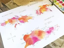 St Thomas Virgin Islands Map Us Virgin Islands Map U2013 11 X 14 Print
