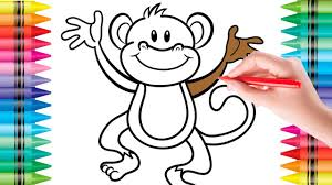 coloring monkey colouring pages for kids colouring pictures with