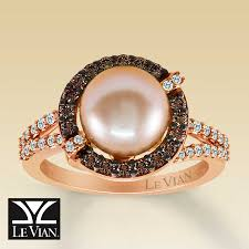 pearl rings diamonds images Kay clearance le vian 14k gold diamond cultured pearl ring jpg