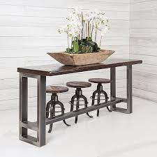 sofa table with stools underneath creative of sofa table with stools with table behind couch houzz