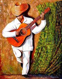 paintings sugar cane worker cuban art more