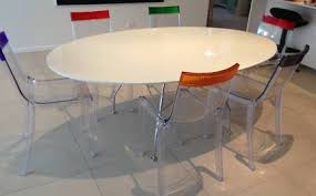 kartell glossy dining table stylish conference table dining table with 4 kartell style chairs