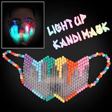 kandi mask rainbow kandi mask with led lights flashingo flashingo