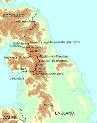 Newcastle England Map by Pennine Way Walking Holidays And Hiking Tours In England