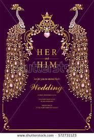 wedding invitation cards india indian wedding invitation card templates with gold peacock