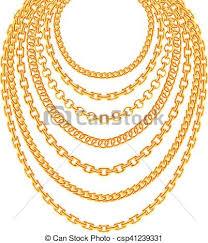 golden fashion necklace images Golden metallic chain necklaces vector set gold fashion luxury jpg