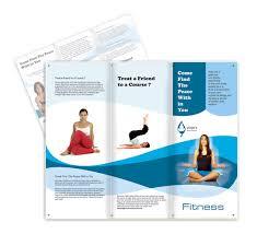 yoga fitness brochure templates