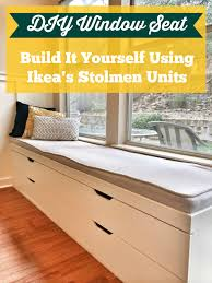 diy window seat from ikea stolmen drawers a better depth than
