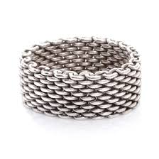 bracelet mesh silver sterling images Tiffany co sterling silver mesh somerset ring 9 44281 jpg
