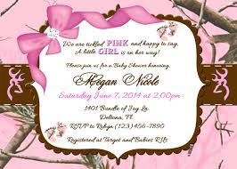 pink camo baby shower invitations marialonghi com