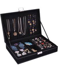 jewelry necklace case images Big deal on jewelry box necklace organizer rings display earrings