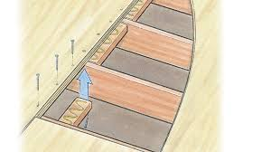 how to cut through subfloor can you fix a squeaky subfloor with blocking