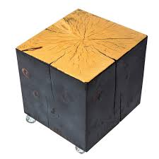 Coffee Table Box Shou Sugi Ban Blackened Box Coffee Table With Casters For Sale At