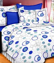 Bombay Dyeing Single Bed Sheets Online India Vintana Queen Cotton Multi Contemporary Bed Sheet Set Of 3 Buy