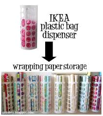 plastic bag holder ikea use an ikea plastic bag dispenser to store wrapping paper ikea