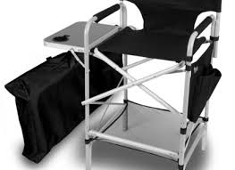 professional makeup artist chair outdoor aluminum director chair with side table makeup chair