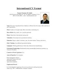 Resume Or Cv Sample by Download Us Resume Format Haadyaooverbayresort Com