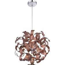 pendant lighting copper finish quoizel rbn2817sg ribbons modern satin copper finish 17 tall