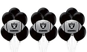 balloon delivery oakland ca oakland raiders football balloon bouquet 5pc party city