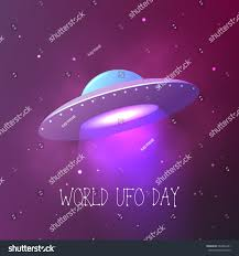 Ufo Upholstery World Ufo Day Flying Saucer Space Stock Vector 664936201