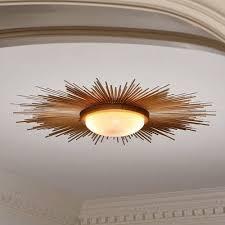Flush Mounted Ceiling Lights by Simple Details Diy Gold Sunburst Flush Mount Light