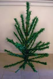 vintage green tinsel christmas tree from colemanscollectibles on