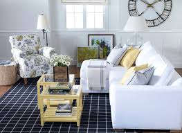 colored furniture ethan allen blue white and yellow living room
