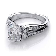 oval shaped engagement rings oval shaped diamond split shank engagement ring 18k white gold