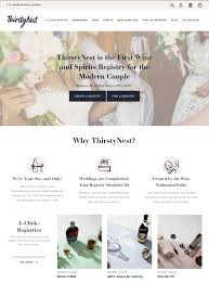 online registry wedding thirstynest the wine spirits wedding registry launches