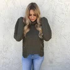turtle neck sweaters cotton la cotton la turtle neck sweater in olive
