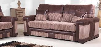3 Seater 2 Seater Sofa Set New York 3 3 Seater Brown Fabric Sofa Set Sofashop Com