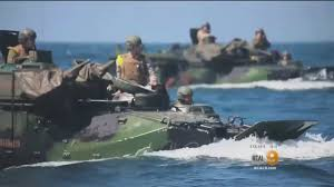 15 marines hurt when amphibious vehicle catches fire at camp