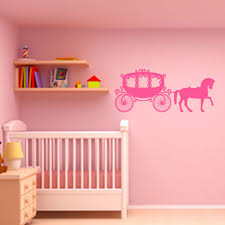 fairytale princess carriage and horse childrens wall sticker fairytale princess carriage and horse childrens wall sticker world of wall stickers