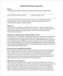 Non Disclosure Statement Template by Sle Non Disclosure Agreement In Pdf 10 Exles In Pdf