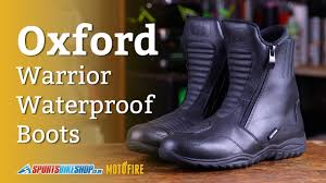 budget motorcycle boots oxford warrior waterproof motorcycle boots overview youtube