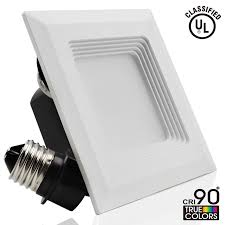 Led Recessed Light Fixtures 4 Inch Square Retrofit Led Recessed Light Torchstar