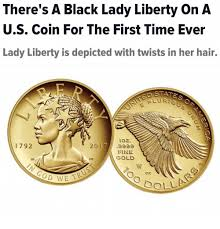 Meme Coins - there s a black lady liberty on a us coin for the first time ever