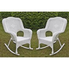 Wicker Rocking Chairs For Porch International Caravan Chelsea Wicker Resin Patio Rocking Chair