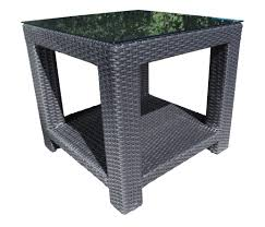 chorus deep seating wicker end table patio furniture at sun country