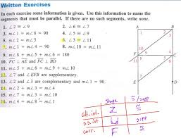 parallel lines proofs worksheet answers angle properties