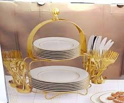 jcpenney home collection sparkle 49 gold buffet set 24k