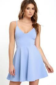 light blue mini dress dress meet cute light blue skater dress 2740088 weddbook
