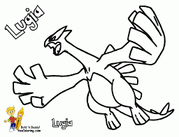 legendary pokemon lugia with open wings coloring pages also sheets