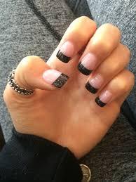 solar black tip nails nails pinterest solar black and makeup