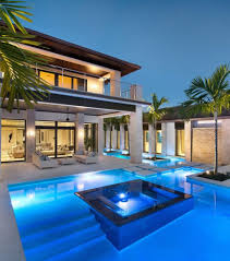 home with pool modern home with pool in outdoor living terrace
